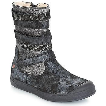 Schoenen Meisjes Hoge laarzen GBB NOURIA Zwart / Metaal