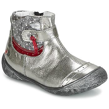 Schoenen Meisjes Laarzen GBB NYMPHE Grijs / Print