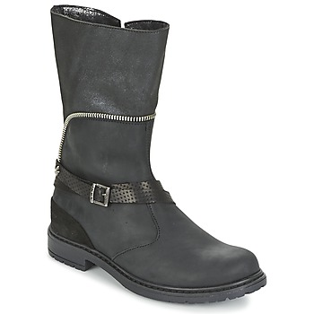 Schoenen Meisjes Hoge laarzen Ikks FLORA Zwart