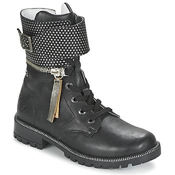 Schoenen Meisjes Laarzen Ikks PEGGY Zwart