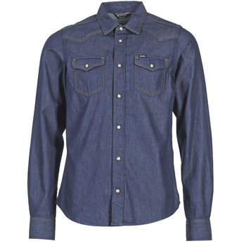 Textiel Heren Overhemden lange mouwen Diesel NEW SONORA Blauw