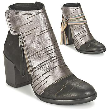 Schoenen Dames Enkellaarzen Felmini CARMEN Zwart / Zilver