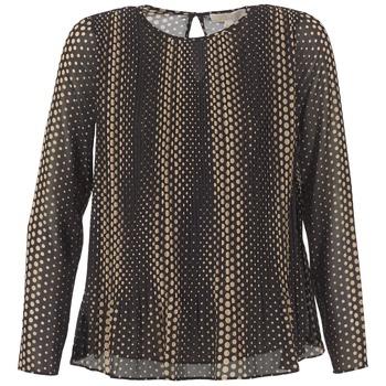 Textiel Dames Tops / Blousjes MICHAEL Michael Kors OMBOBO Zwart / Beige