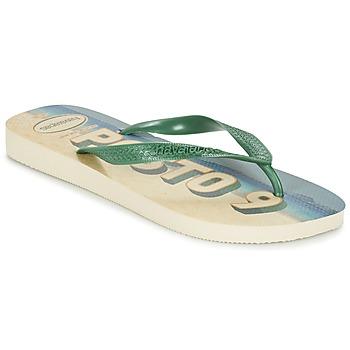Schoenen Heren Teenslippers Havaianas POSTO CODE Groen / Blauw