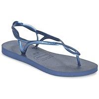 Schoenen Dames Teenslippers Havaianas LUNA Blauw / Marine