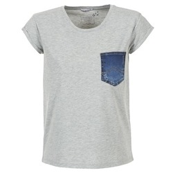 Textiel Dames T-shirts korte mouwen Mustang SLV DENIM POCKET Grijs