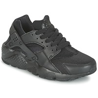 Schoenen Jongens Lage sneakers Nike HUARACHE RUN JUNIOR Zwart