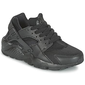 Schoenen Kinderen Lage sneakers Nike HUARACHE RUN JUNIOR Zwart