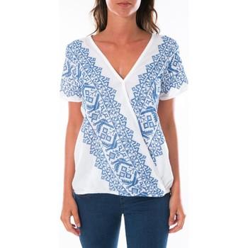 Textiel Dames Tops / Blousjes Jad Top Milan Blanc Wit