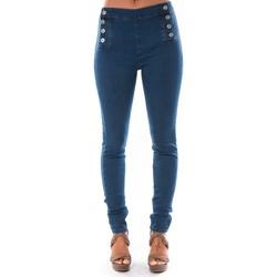 Textiel Dames Skinny jeans Dress Code Jean Demin Avenue  15HP006-2 Blauw