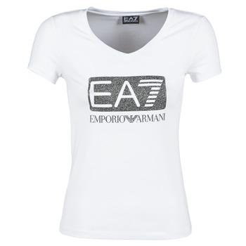 Textiel Dames T-shirts korte mouwen Emporio Armani EA7 FOUNAROLA Wit