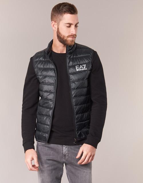Textiel Heren Dons gevoerde jassen Emporio Armani EA7 ONAFRATO Zwart