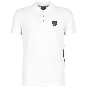 Textiel Heren Polo's korte mouwen Emporio Armani EA7 ONTRAFOL Wit
