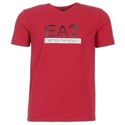 Textiel Heren T-shirts korte mouwen Emporio Armani EA7 MOFRAGO Rood
