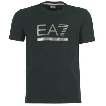 Textiel Heren T-shirts korte mouwen Emporio Armani EA7 MAGGAROL Zwart