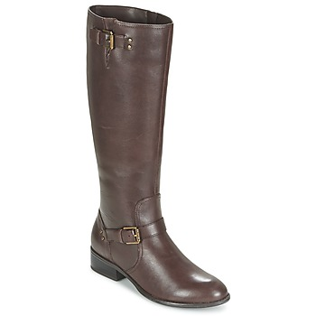 Schoenen Dames Hoge laarzen Ralph Lauren MARRONA Bruin