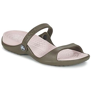 Schoenen Dames Sandalen / Open schoenen Crocs Cleo Chocolat / Katoen / Candy