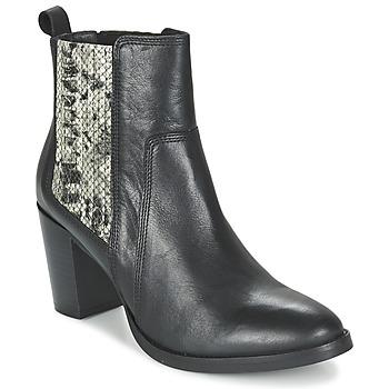 Schoenen Dames Enkellaarzen Betty London FLARA Zwart / Slang