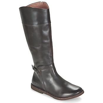 Schoenen Dames Hoge laarzen Kickers CRICK Bruin / Donker