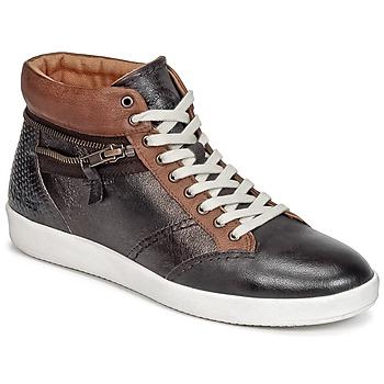 Schoenen Dames Hoge sneakers Kickers HAPPYZIP Bruin / Donker / Metaal
