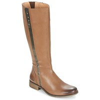 Schoenen Dames Hoge laarzen Kickers LONGBOTTE Bruin / Goud