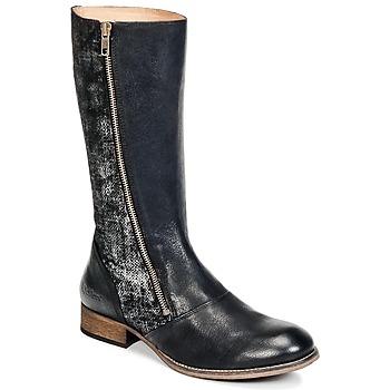 Schoenen Dames Hoge laarzen Kickers PENNYHO Zwart / Brillant