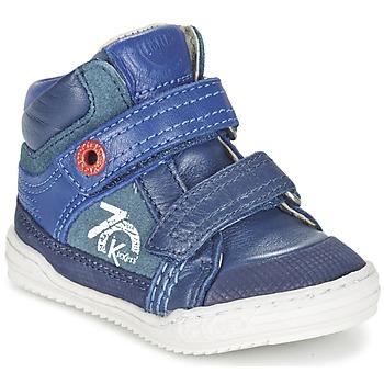 Schoenen Jongens Hoge sneakers Kickers JINJINU Blauw
