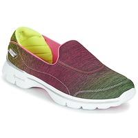 Schoenen Dames Lage sneakers Skechers GO WALK 3 AURA Roze / Lemon