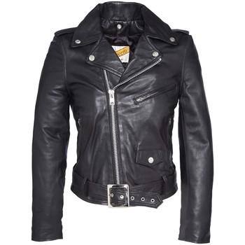 Textiel Dames Leren jas / kunstleren jas Schott PERFECTO FEMME   Black LCW 8600 Zwart