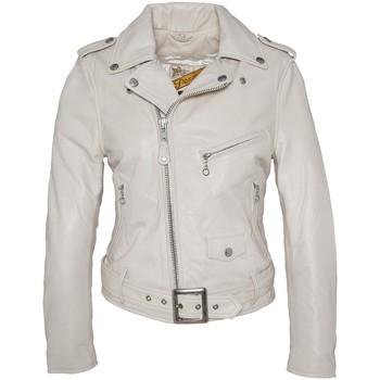 Textiel Dames Leren jas / kunstleren jas Schott PERFECTO FEMME  Blanc LCW 8600 Wit