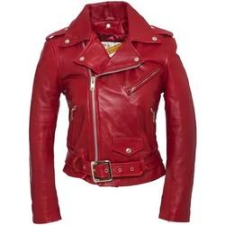 Textiel Dames Leren jas / kunstleren jas Schott PERFECTO FEMME  Rouge Rood