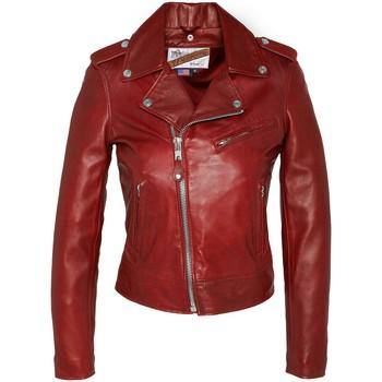 Textiel Dames Leren jas / kunstleren jas Schott VESTE PERFECTO LCW1601D  SANS CEINTURE  Rouge Rood