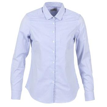 Textiel Dames Overhemden Casual Attitude FANFAN Wit / Blauw