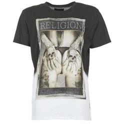 Textiel Heren T-shirts korte mouwen Religion GRABBING Wit / Zwart