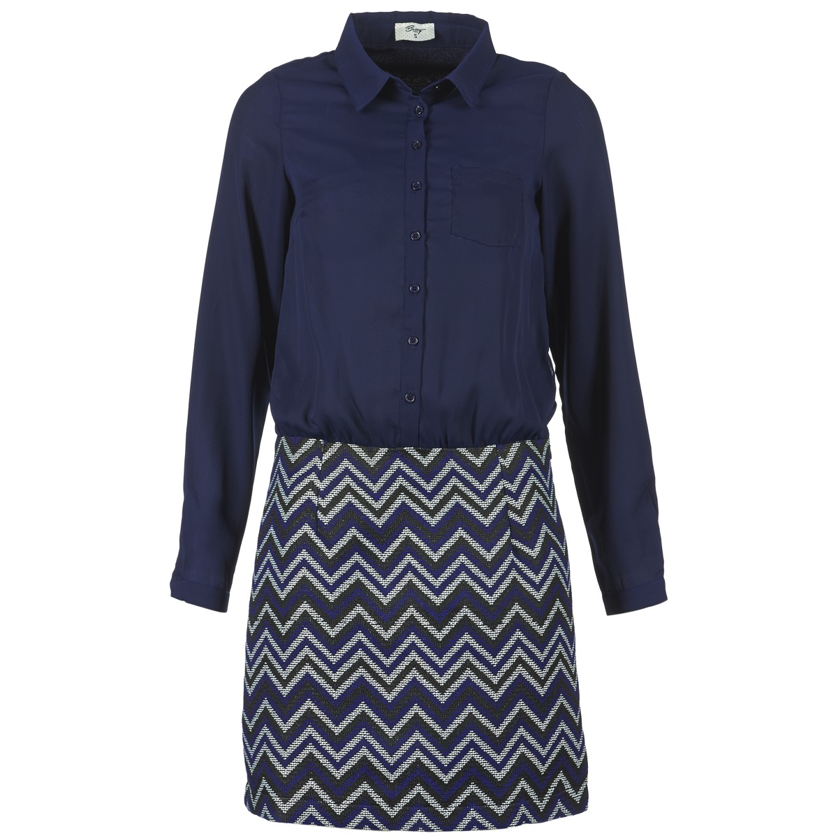 Betty London korte jurk fermine blauw