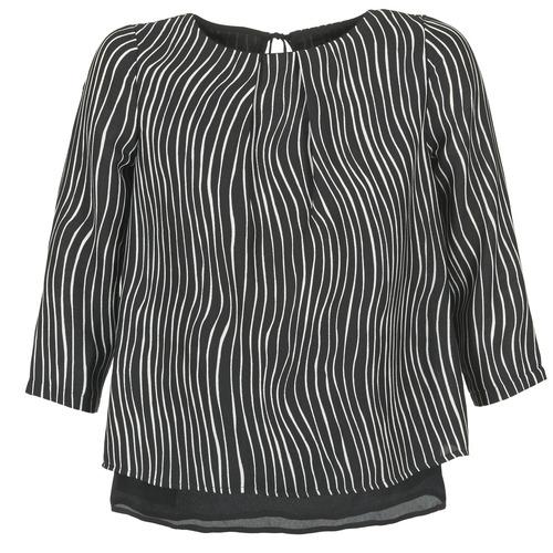 Textiel Dames Tops / Blousjes Betty London FADILIA Zwart / Wit