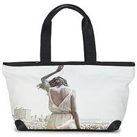 Tassen Dames Tote tassen / Boodschappentassen Kothai MICRO GIRL Zwart / Grijs