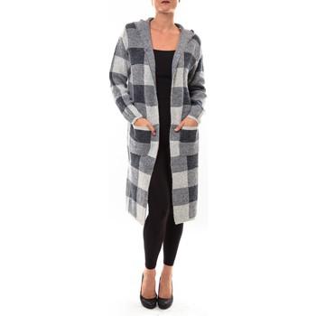 Textiel Dames Vesten / Cardigans De Fil En Aiguille Cardigan long K100 gris Grijs