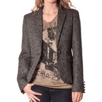 Textiel Dames Colberts Rich & Royal Rich&Royal Blazer OVER Chiné Noir 13q801/999 Zwart