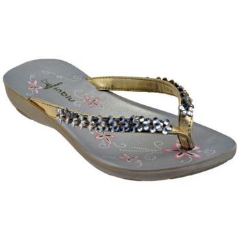 Schoenen Dames Teenslippers Inblu  Goud
