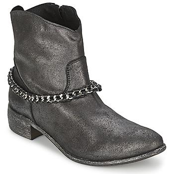 Schoenen Dames Laarzen Meline VUTIO Zwart / Metaal
