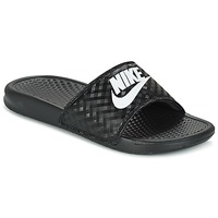Schoenen Dames Leren slippers Nike BENASSI JUST DO IT W Zwart / Wit