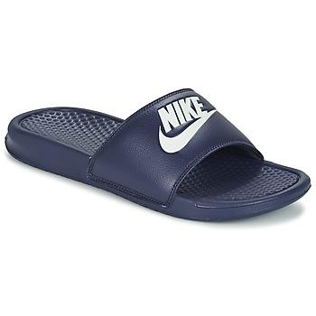 Schoenen Heren Leren slippers Nike BENASSI JDI Blauw / Wit