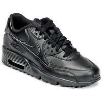 Schoenen Jongens Lage sneakers Nike AIR MAX 90 LEATHER GRADE SCHOOL Zwart