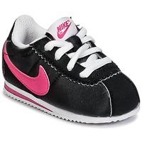 Schoenen Meisjes Lage sneakers Nike CORTEZ NYLON TODDLER Zwart / Roze