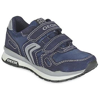 Schoenen Meisjes Lage sneakers Geox J PAVEL Blauw