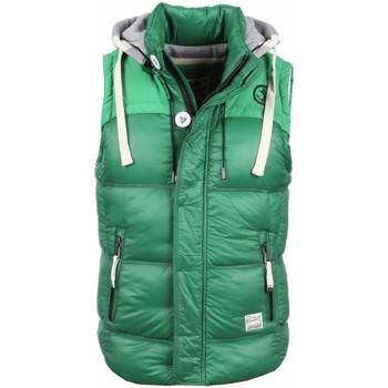 Textiel Heren Vesten / Cardigans Yole Bodywarmer Groen met capuchon 25