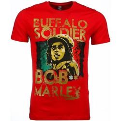 Textiel Heren T-shirts korte mouwen Mascherano T-shirt - Bob Marley Buffalo Soldier Print 8