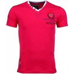 Textiel Heren T-shirts korte mouwen David Copper Korte Mouwen Riviera Club Roze