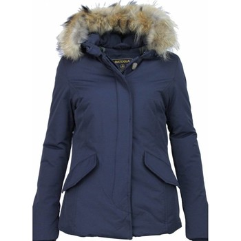 Textiel Dames Parka jassen Matogla Winterjas Wooly  Grote Bontkraag Blauw
